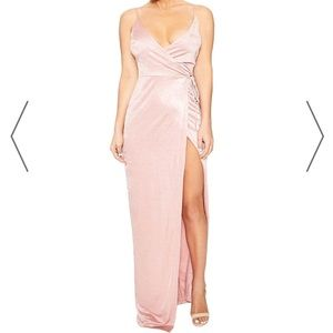 NWT Naked wardrobe blush maxi